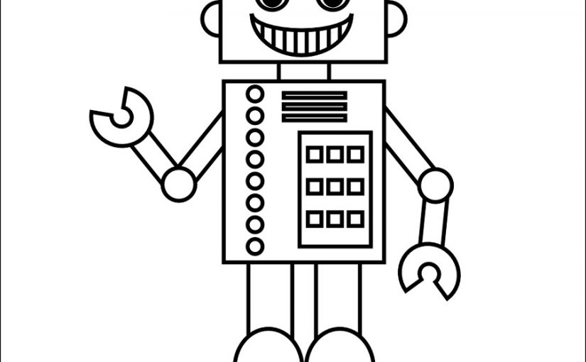 Robot Coloring Pages for Students