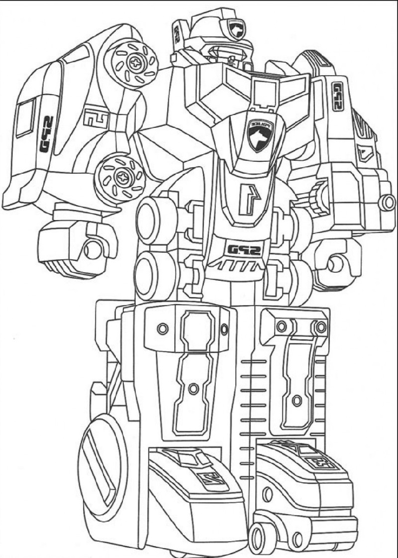 robot coloring pages 3