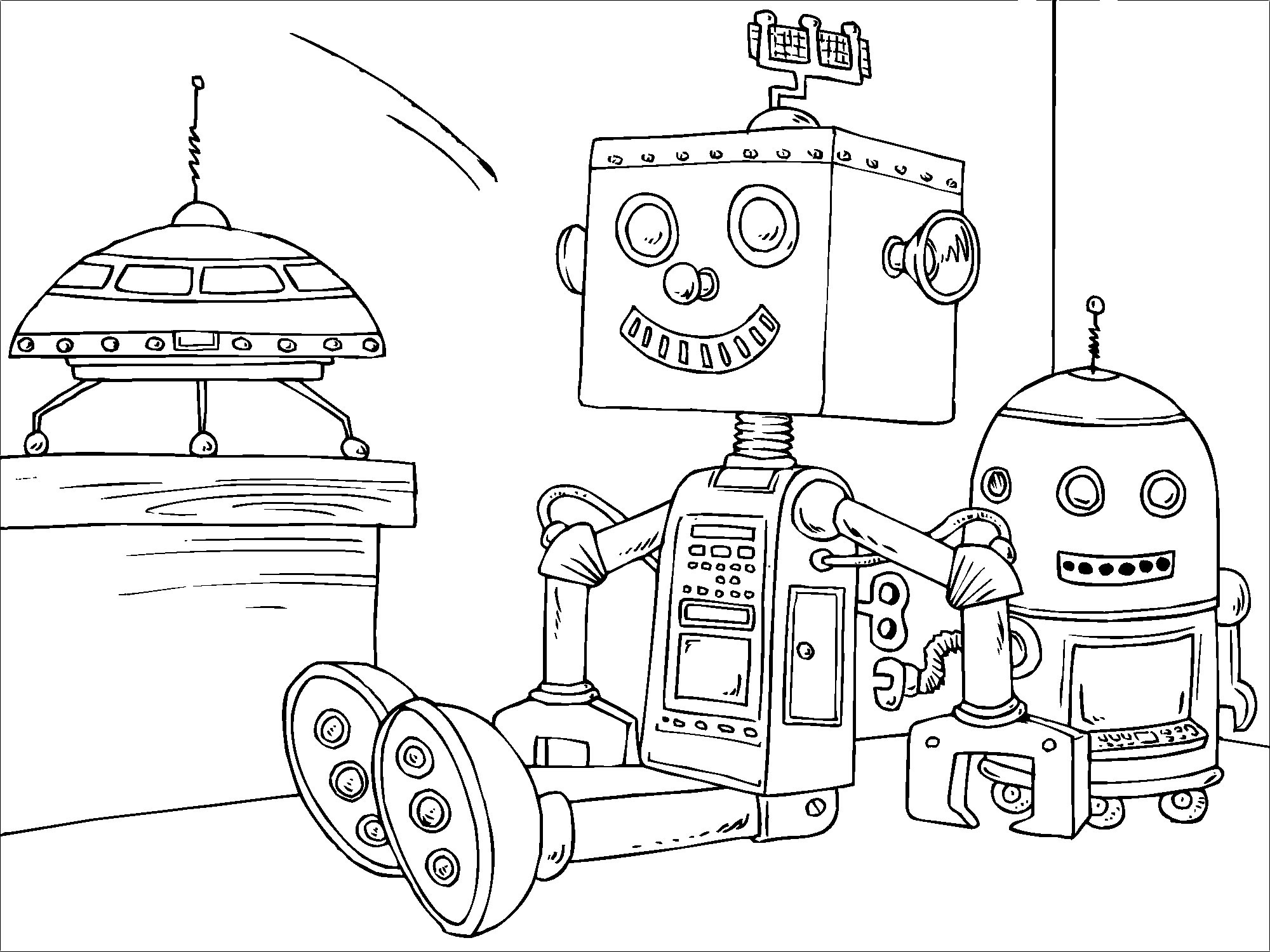 robot coloring pages 4