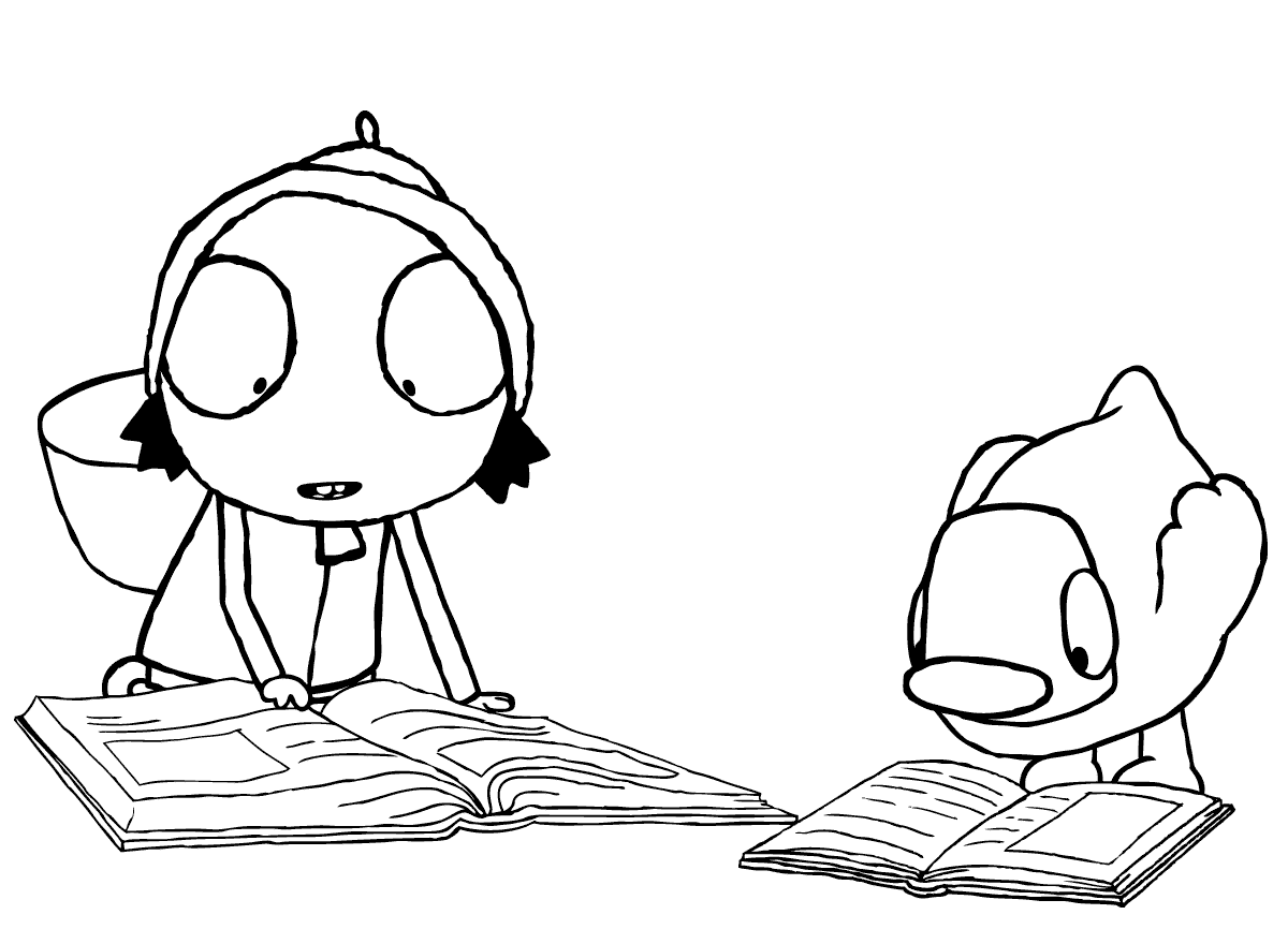 sarah and duck coloring pages 2