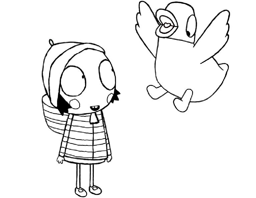 sarah and duck coloring pages 5