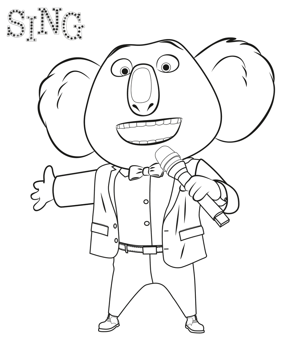sing movie coloring pages 4