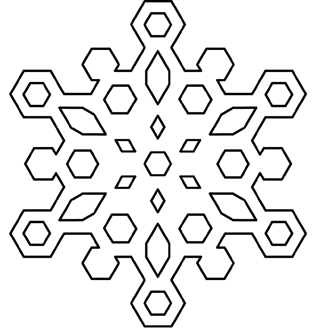 snowflake coloring page 2