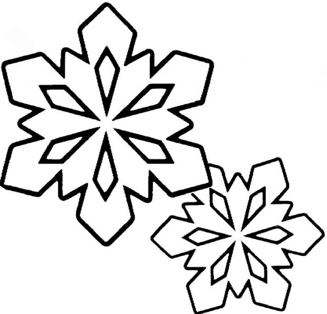 snowflake coloring page 3