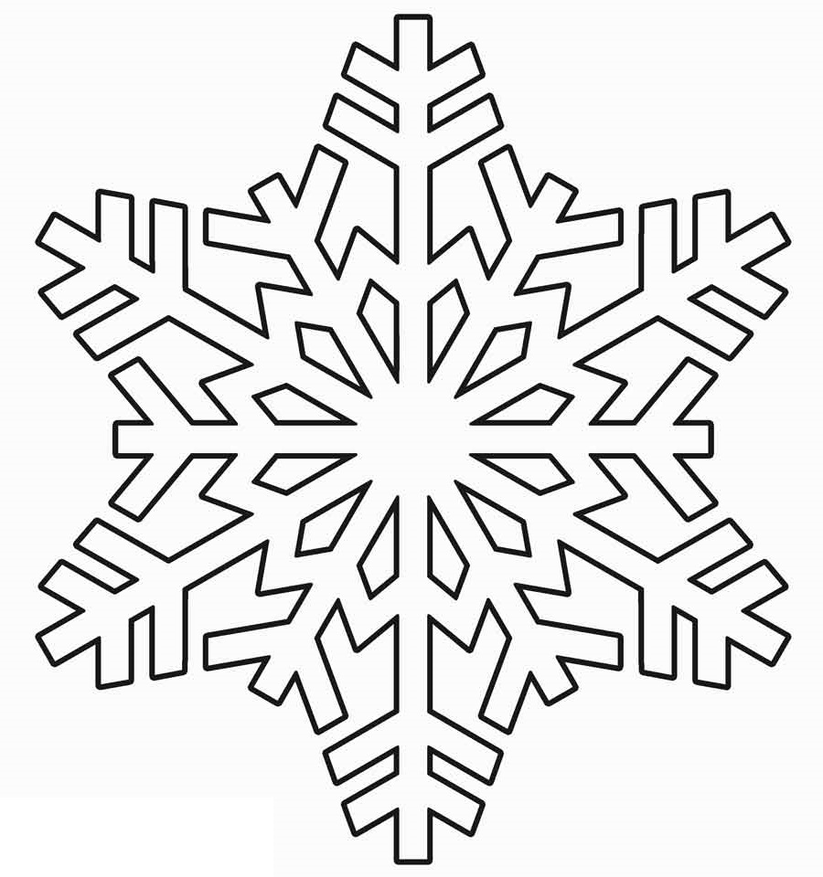 snowflake coloring page 4