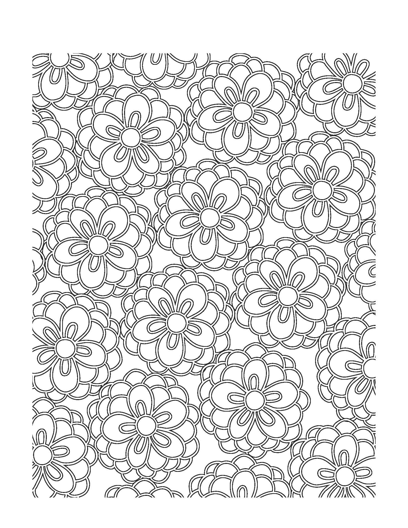 spring coloring pages for adults 2
