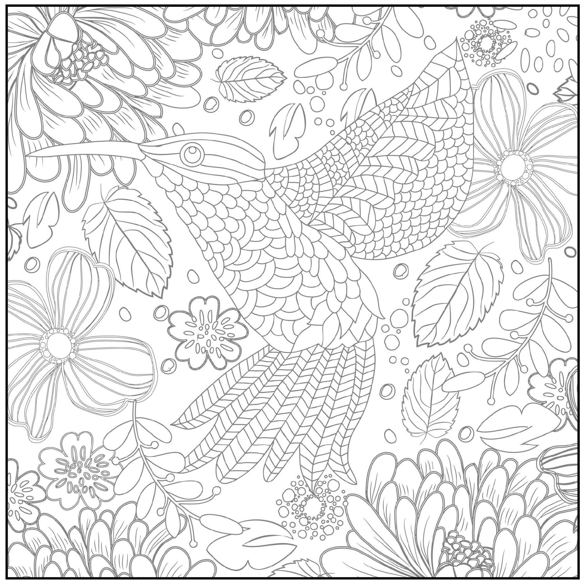 spring coloring pages for adults 3