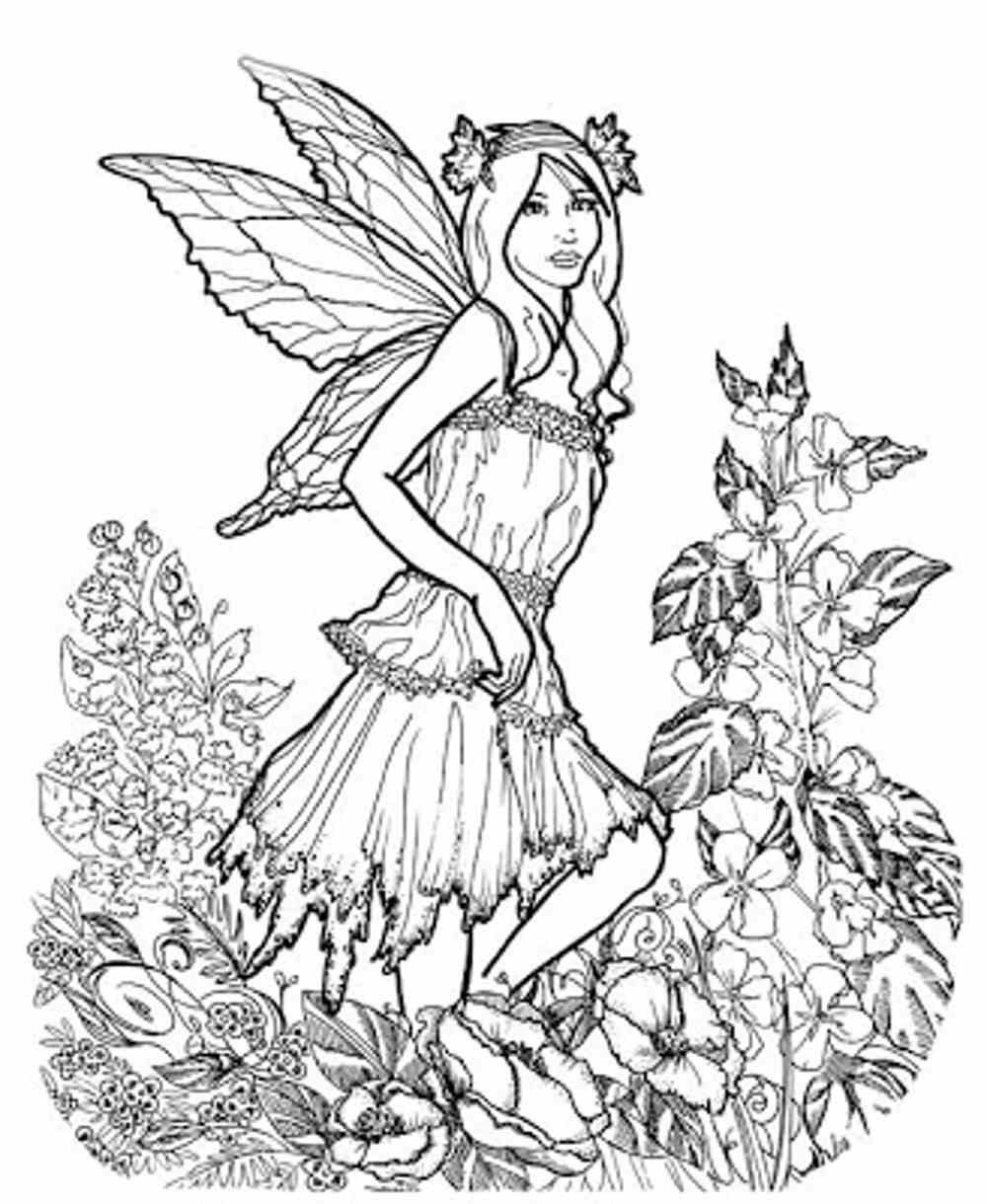 spring coloring pages for adults 4