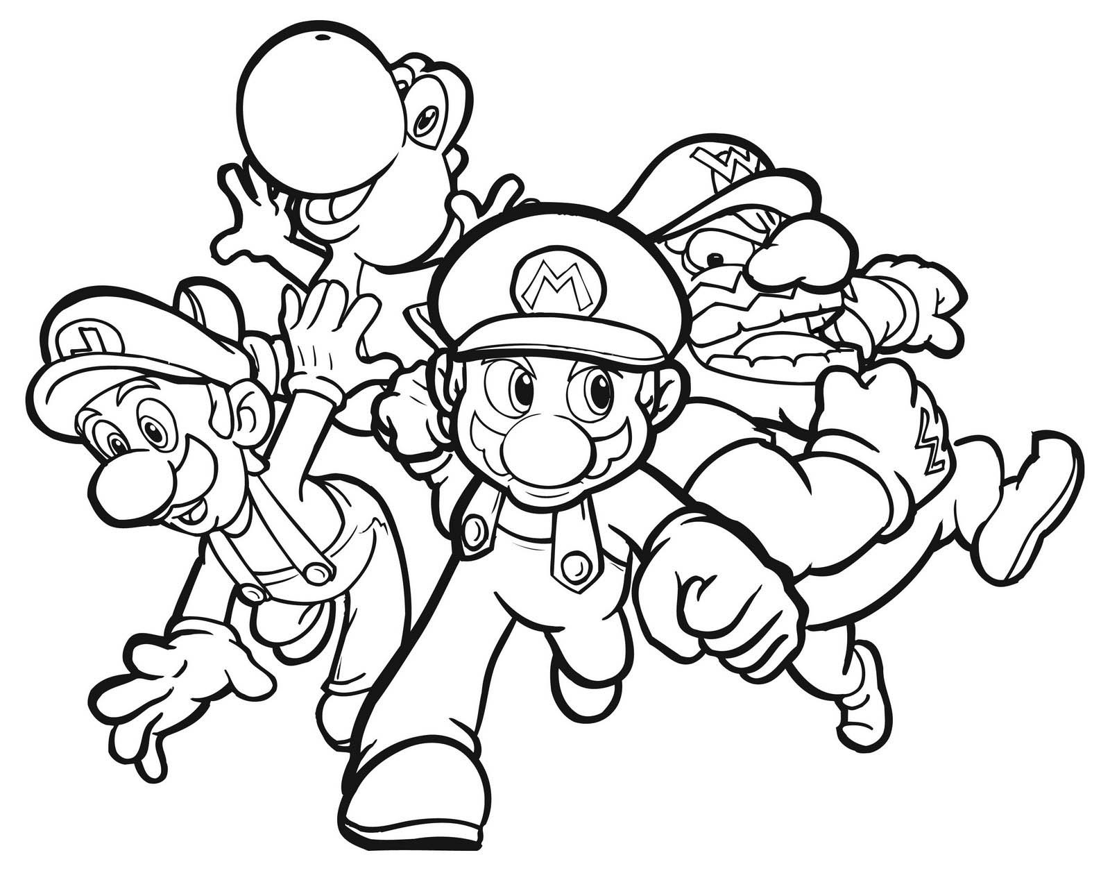 super mario coloring pages 1