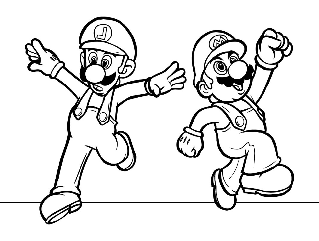 super mario coloring pages 4