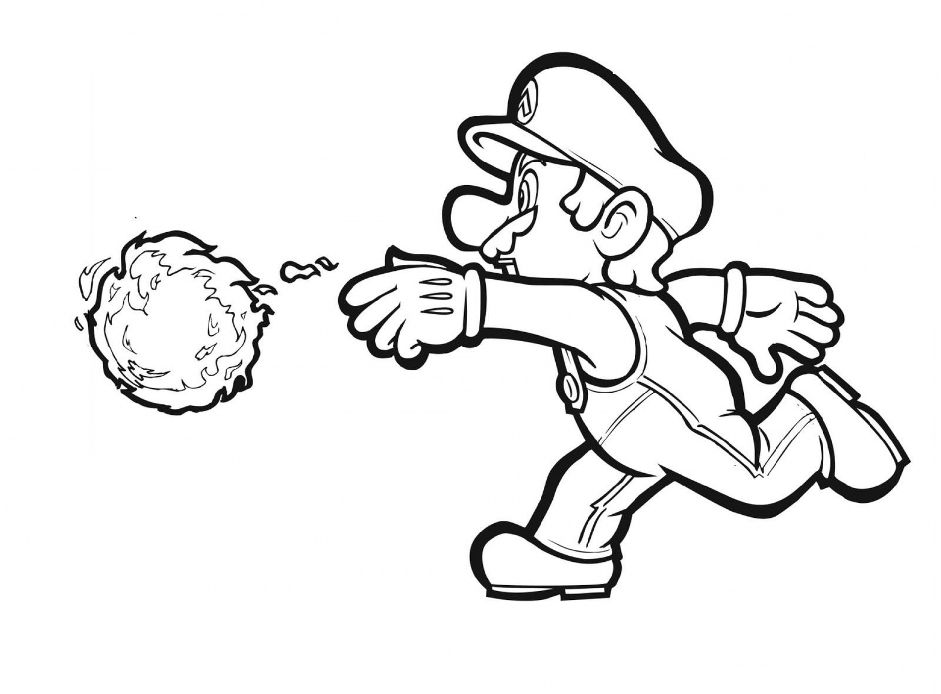 super mario coloring pages 5