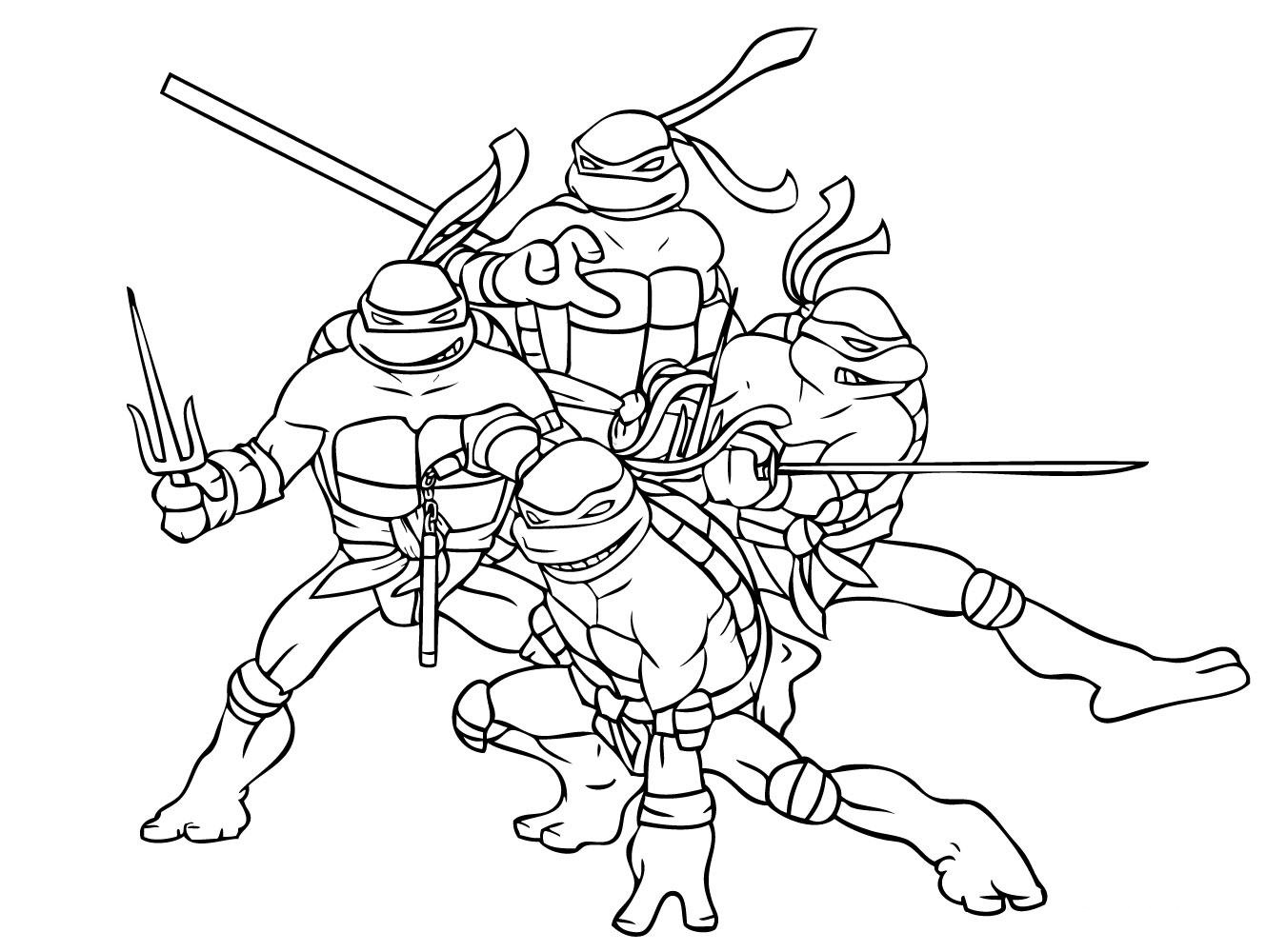 teenage mutant ninja turtles coloring pages 1