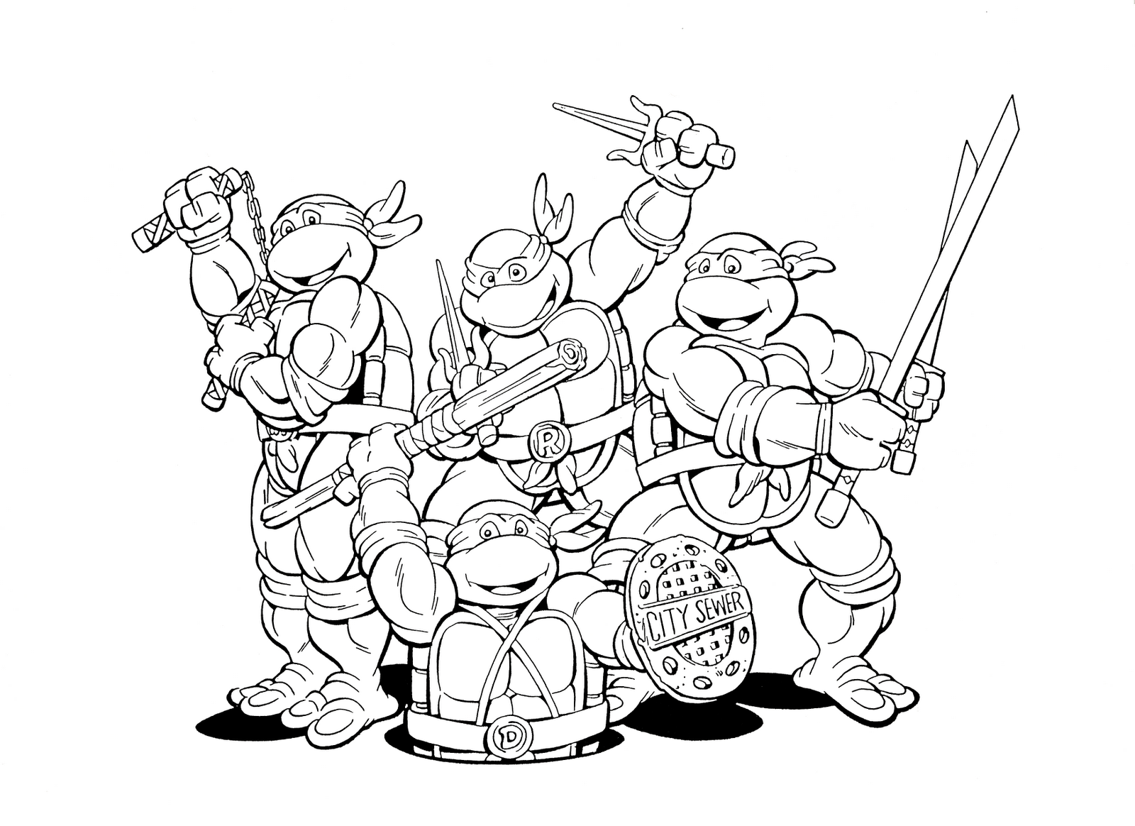 teenage mutant ninja turtles coloring pages 2