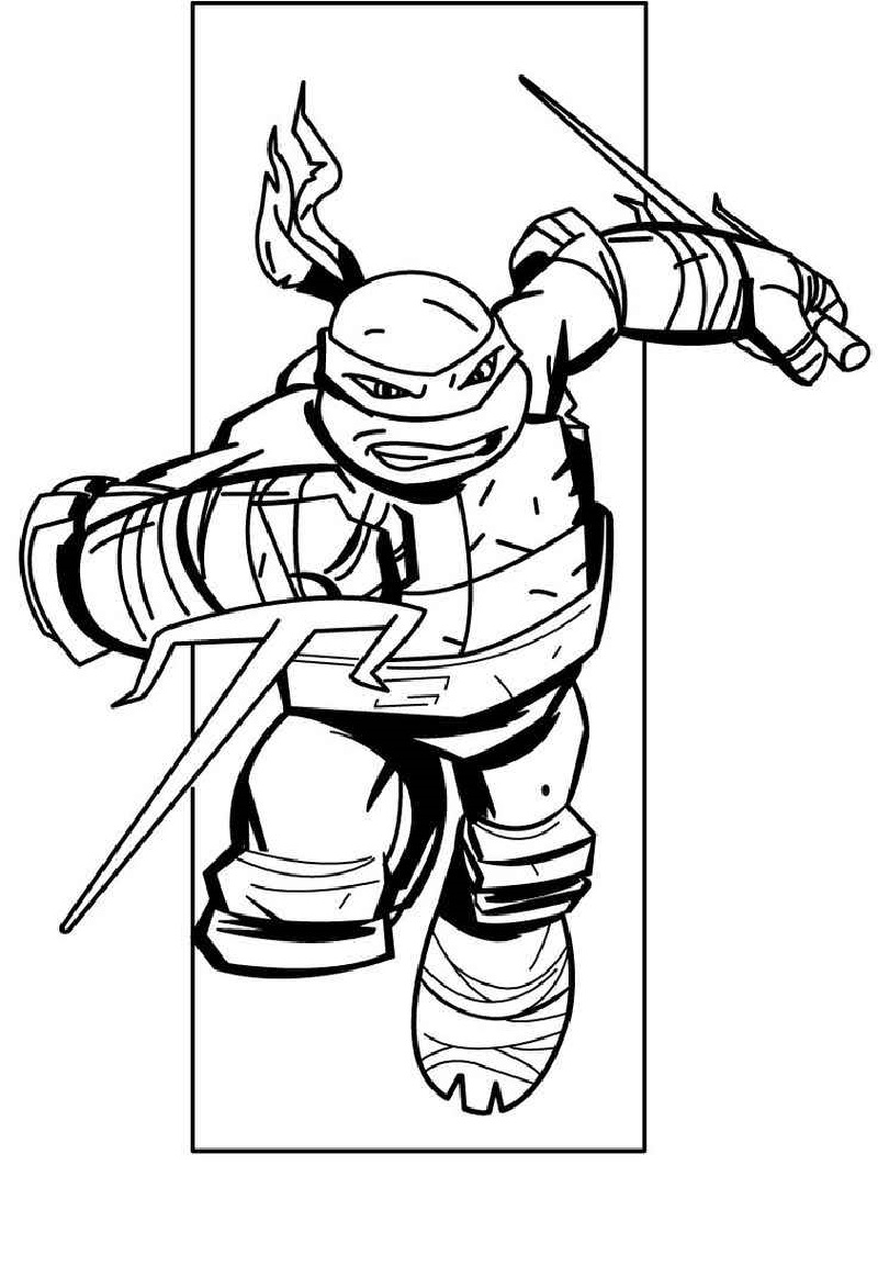 teenage mutant ninja turtles coloring pages 3