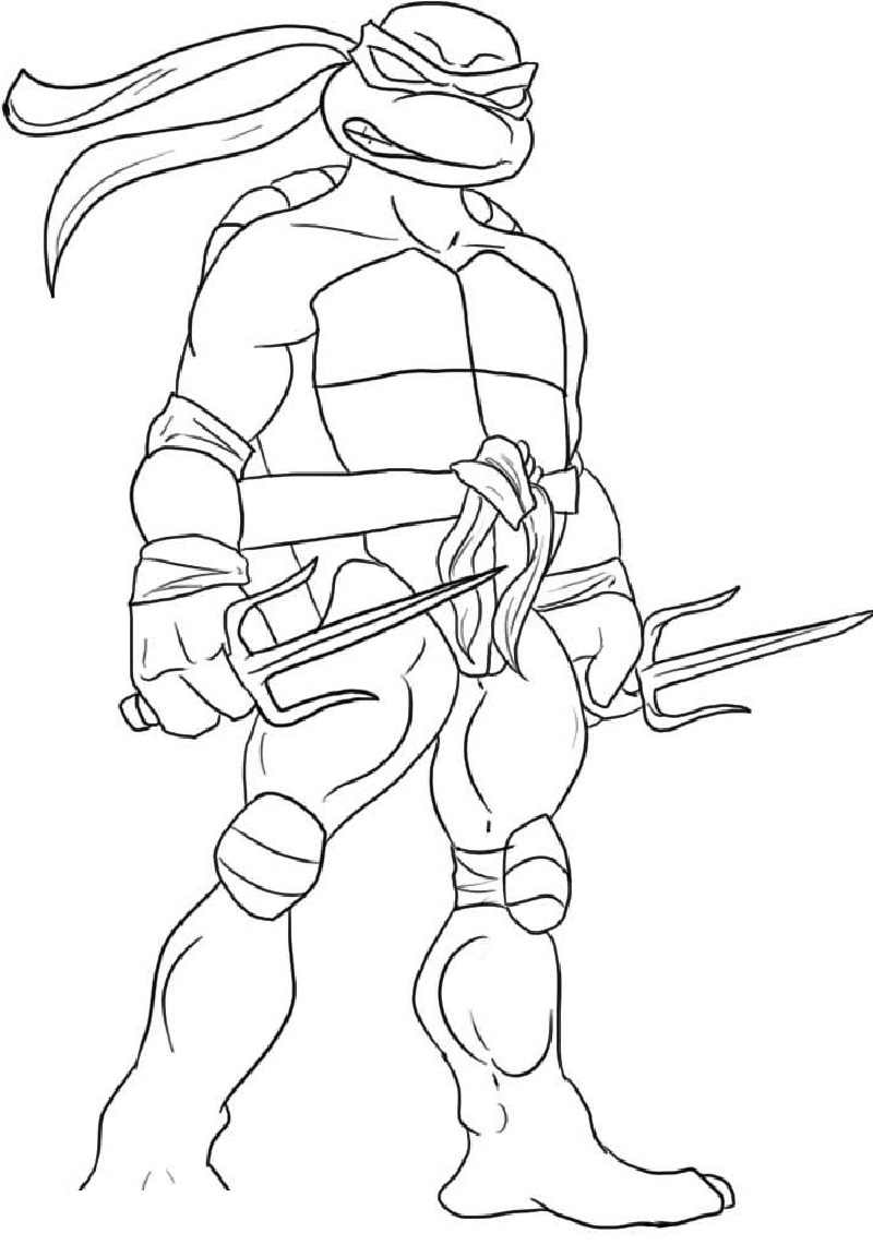 teenage mutant ninja turtles coloring pages 4