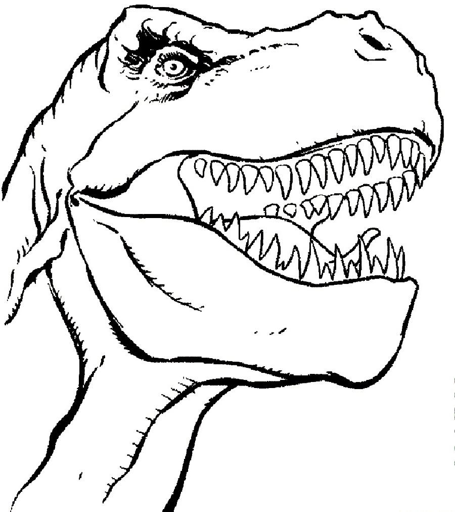 tyrannosaurus rex coloring page 2