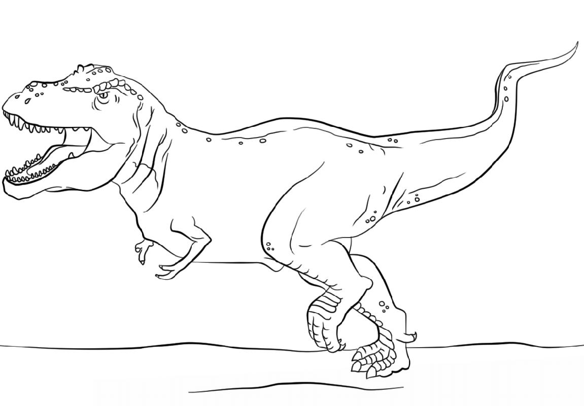 tyrannosaurus rex coloring page 3