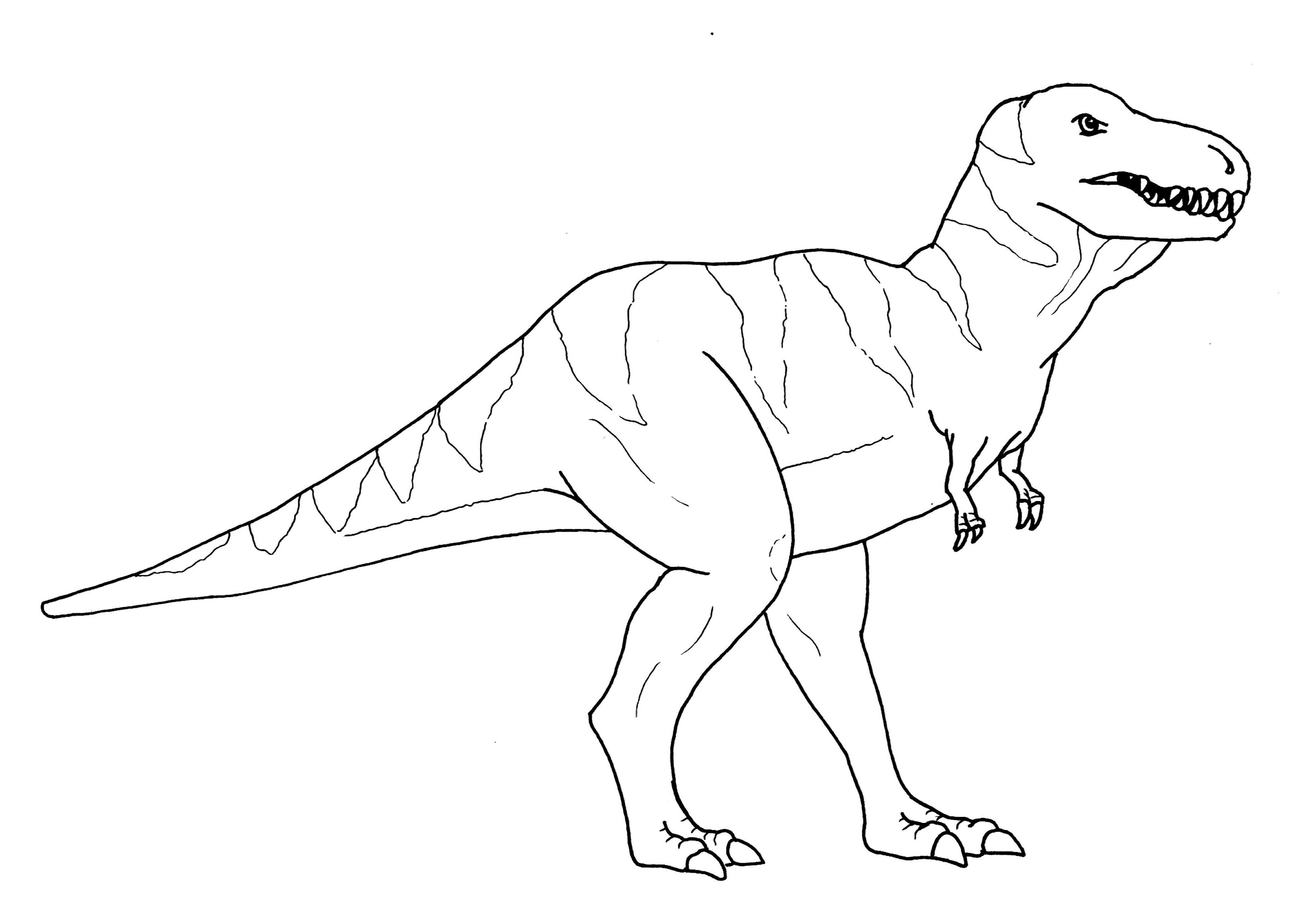 tyrannosaurus rex coloring page 4