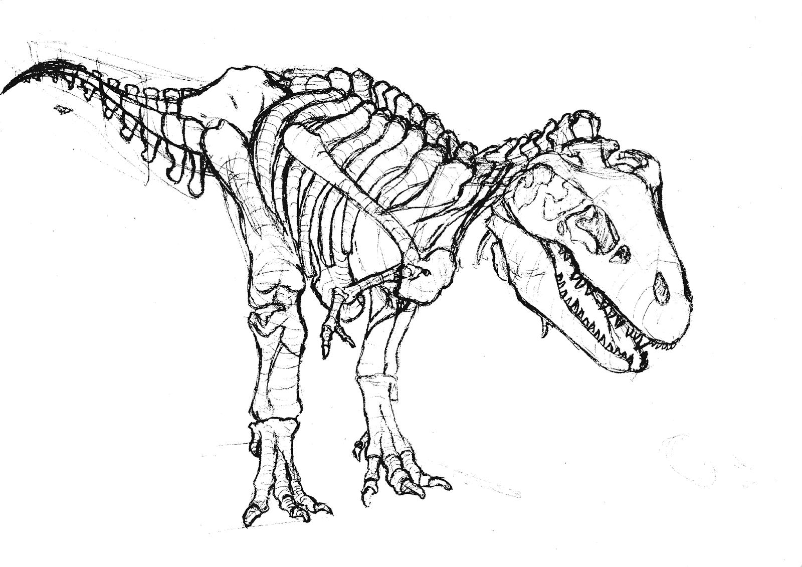 tyrannosaurus rex coloring page 6