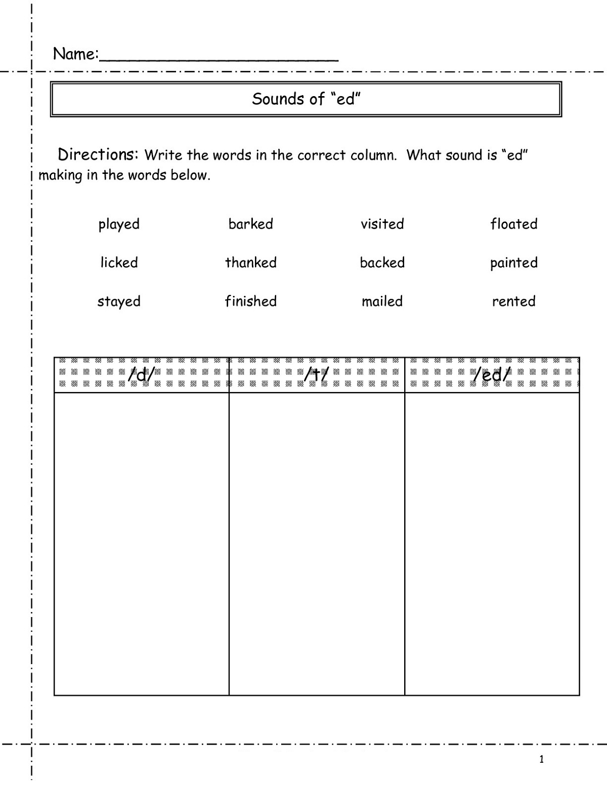 Education worksheets four