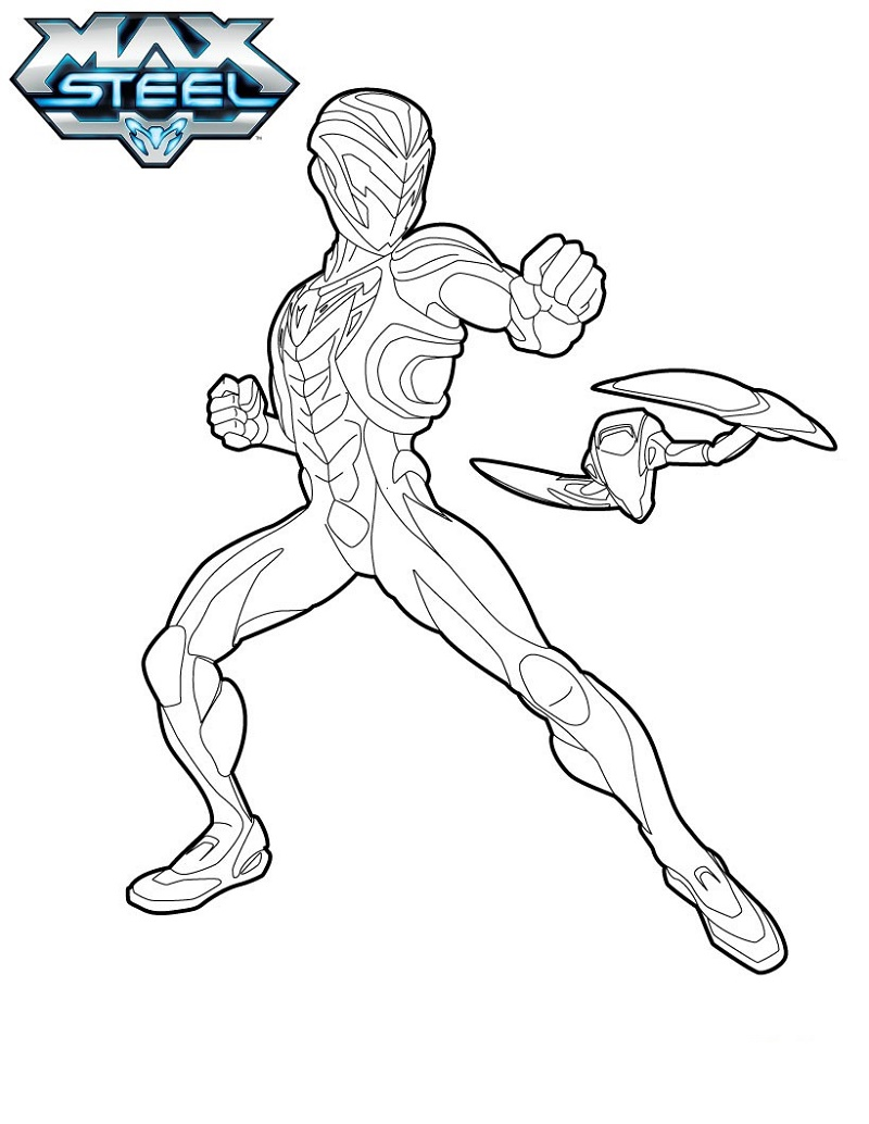 Max Steel Coloring Pages Attacks