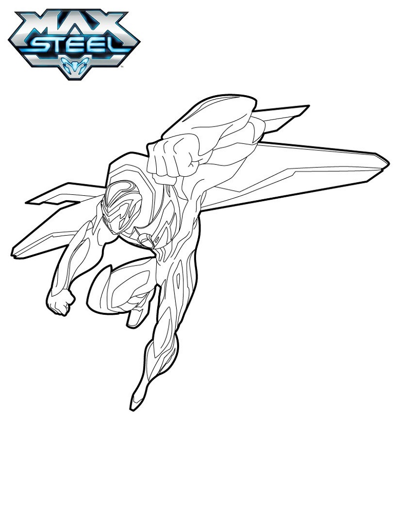 Max Steel Coloring Pages Flying