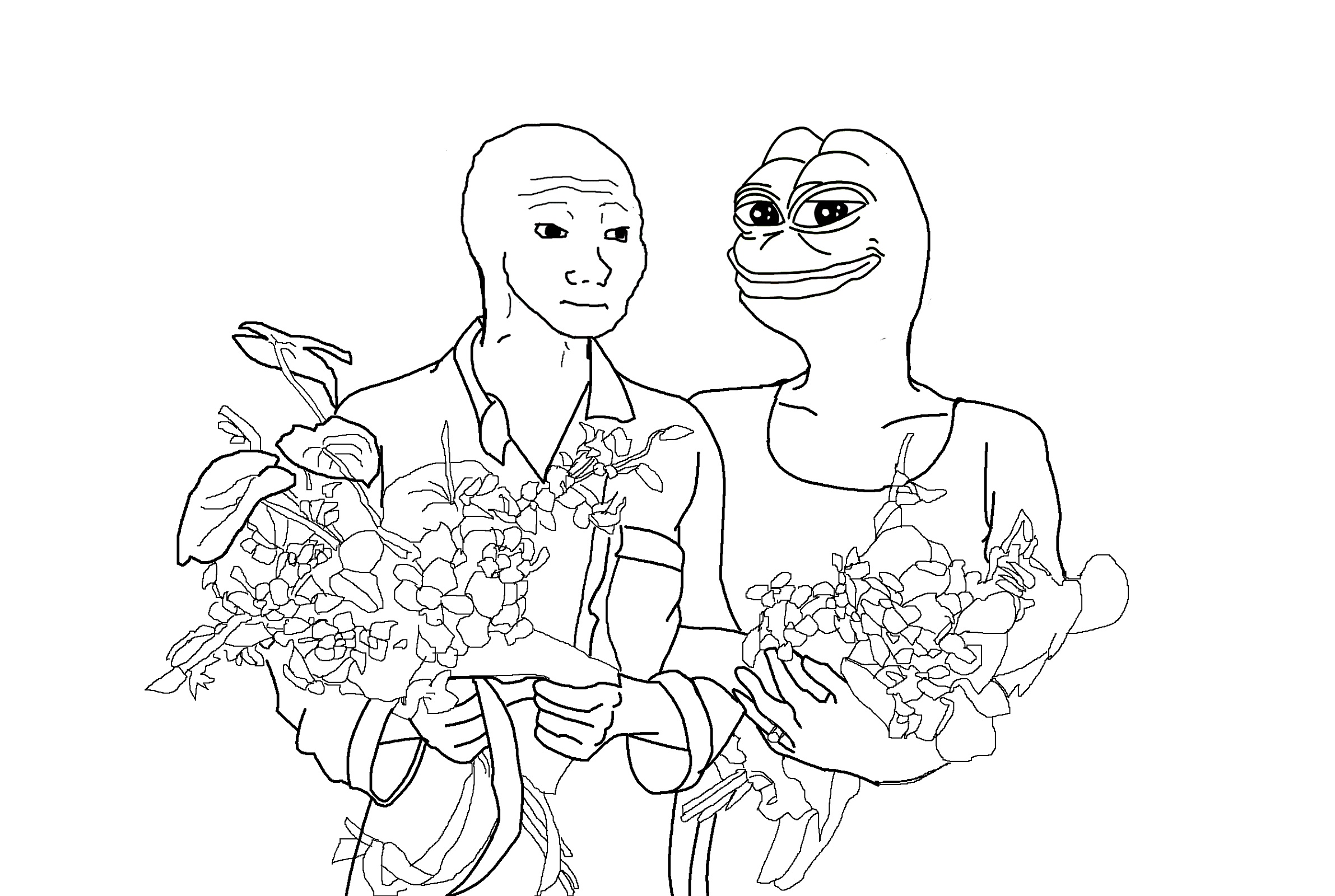 Meme Coloring Book Pepe