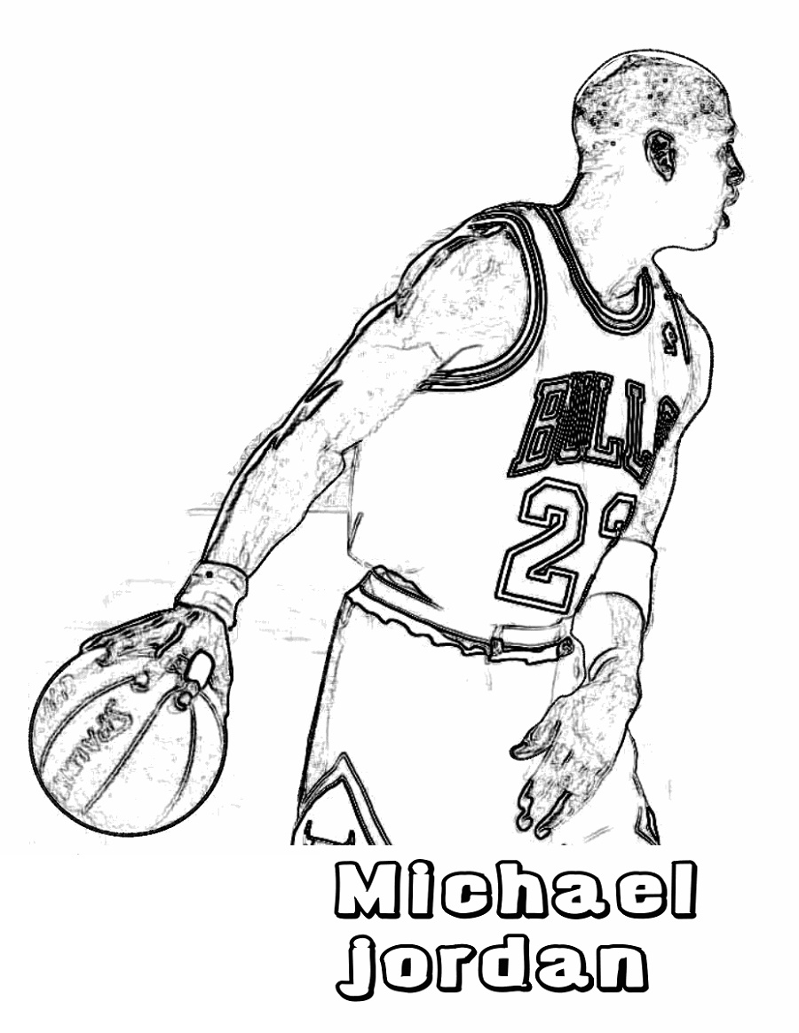 Michael Jordan Coloring Pages Basketball