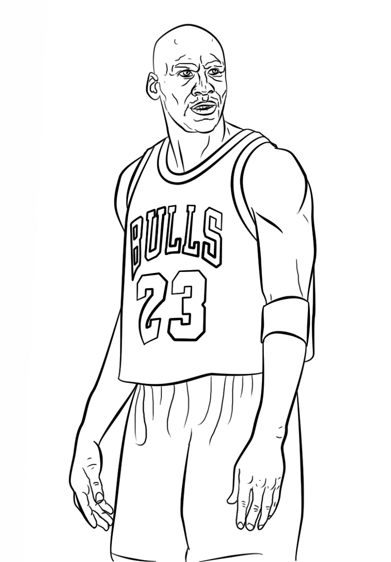 Michael Jordan Coloring Pages Free