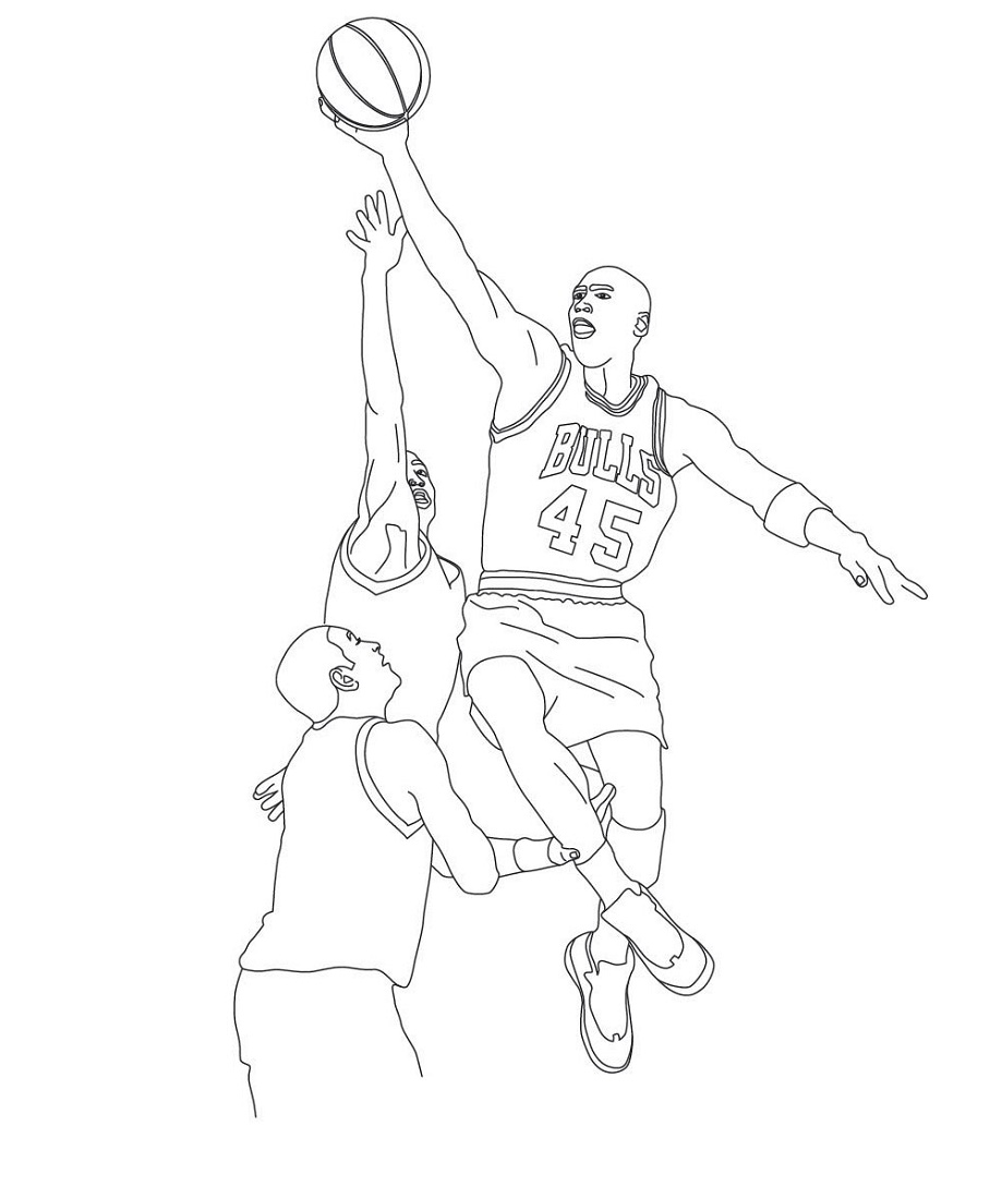 Michael Jordan Coloring Pages Printable