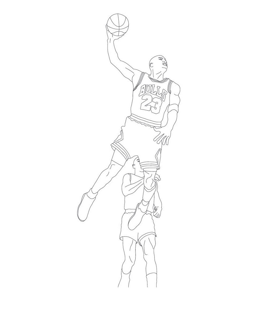 Michael Jordan Coloring Pages To Print
