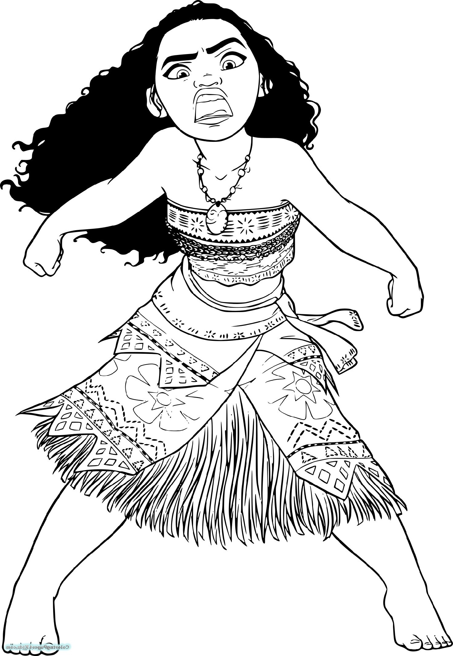Moana Coloring For Kids
