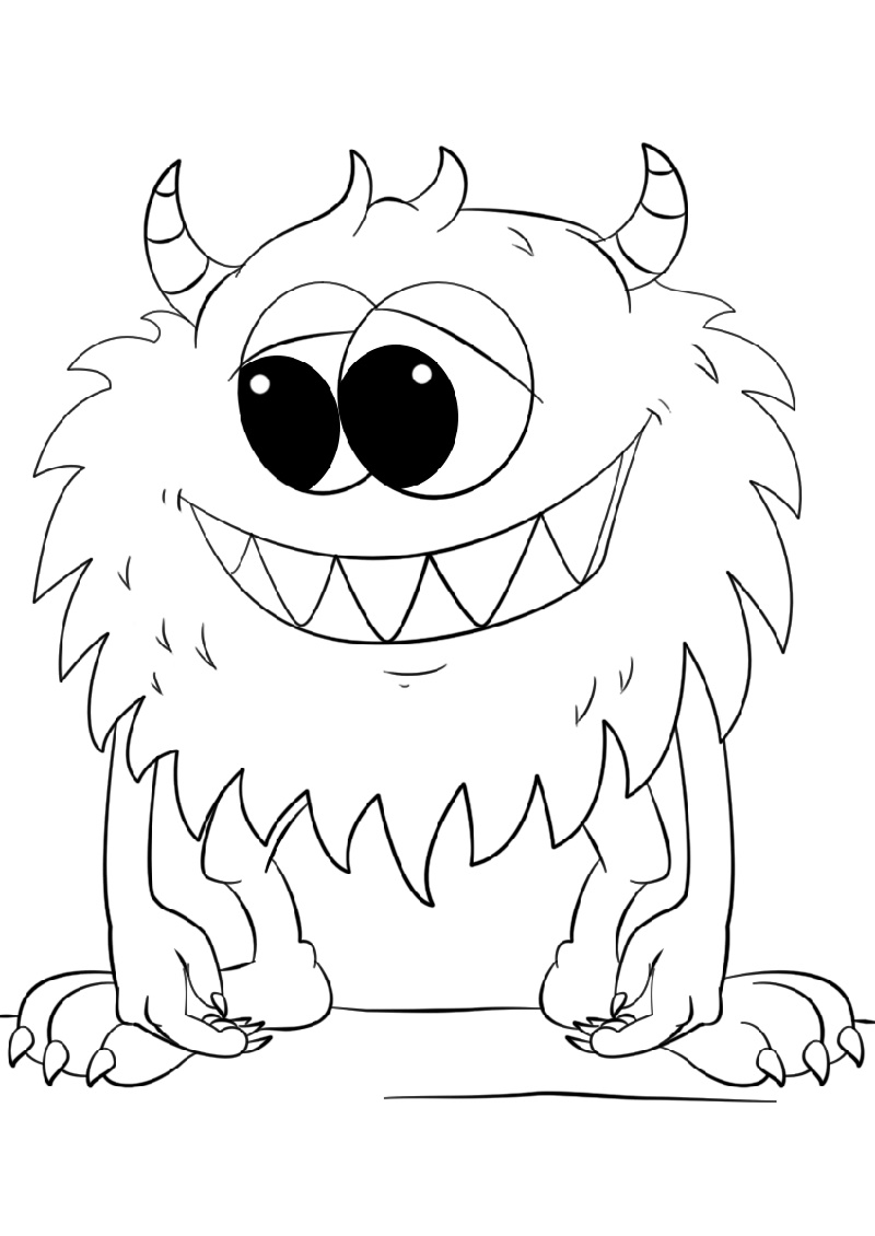 Monster Coloring Pages Cartoon