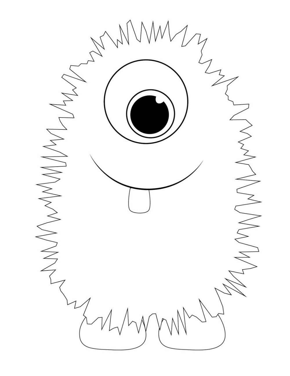 Monster-Coloring-Pages-Cute