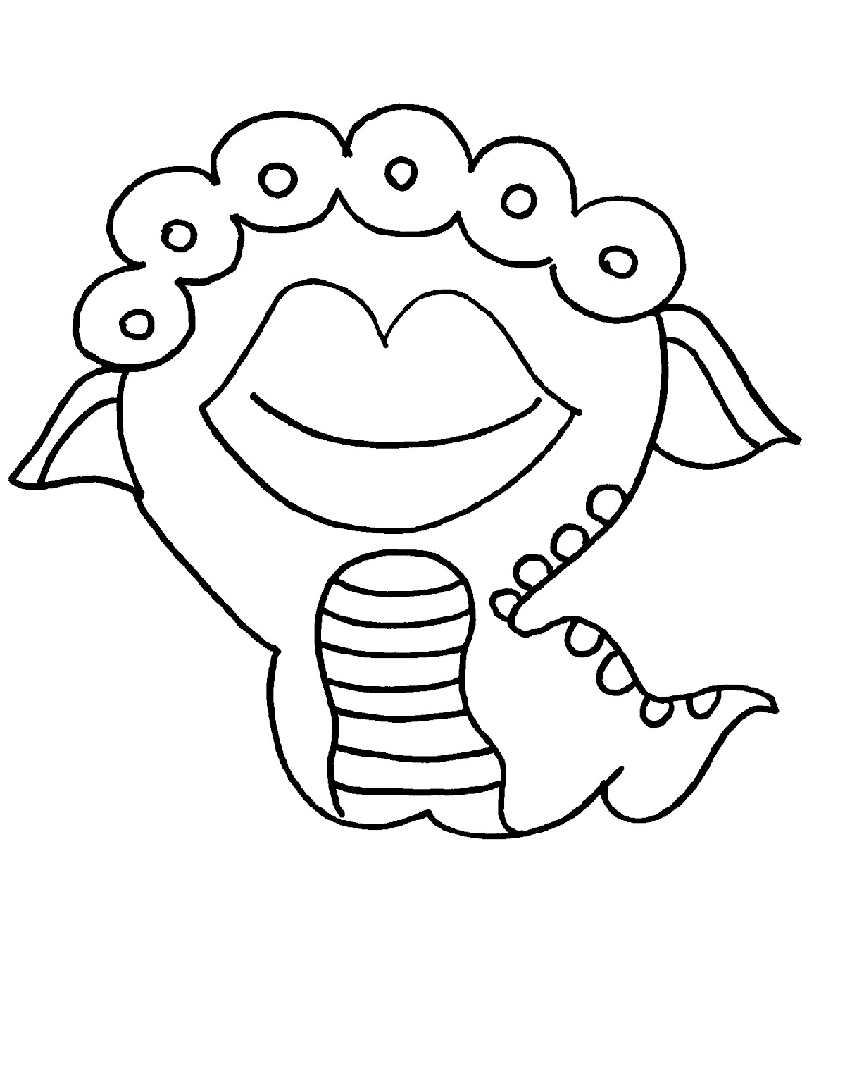 Monster Coloring Pages Halloween