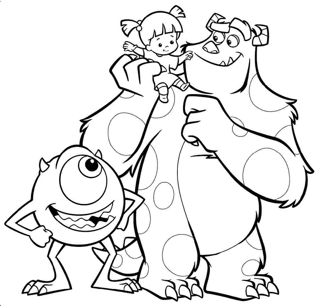 Monster Coloring Pages Monster Inc