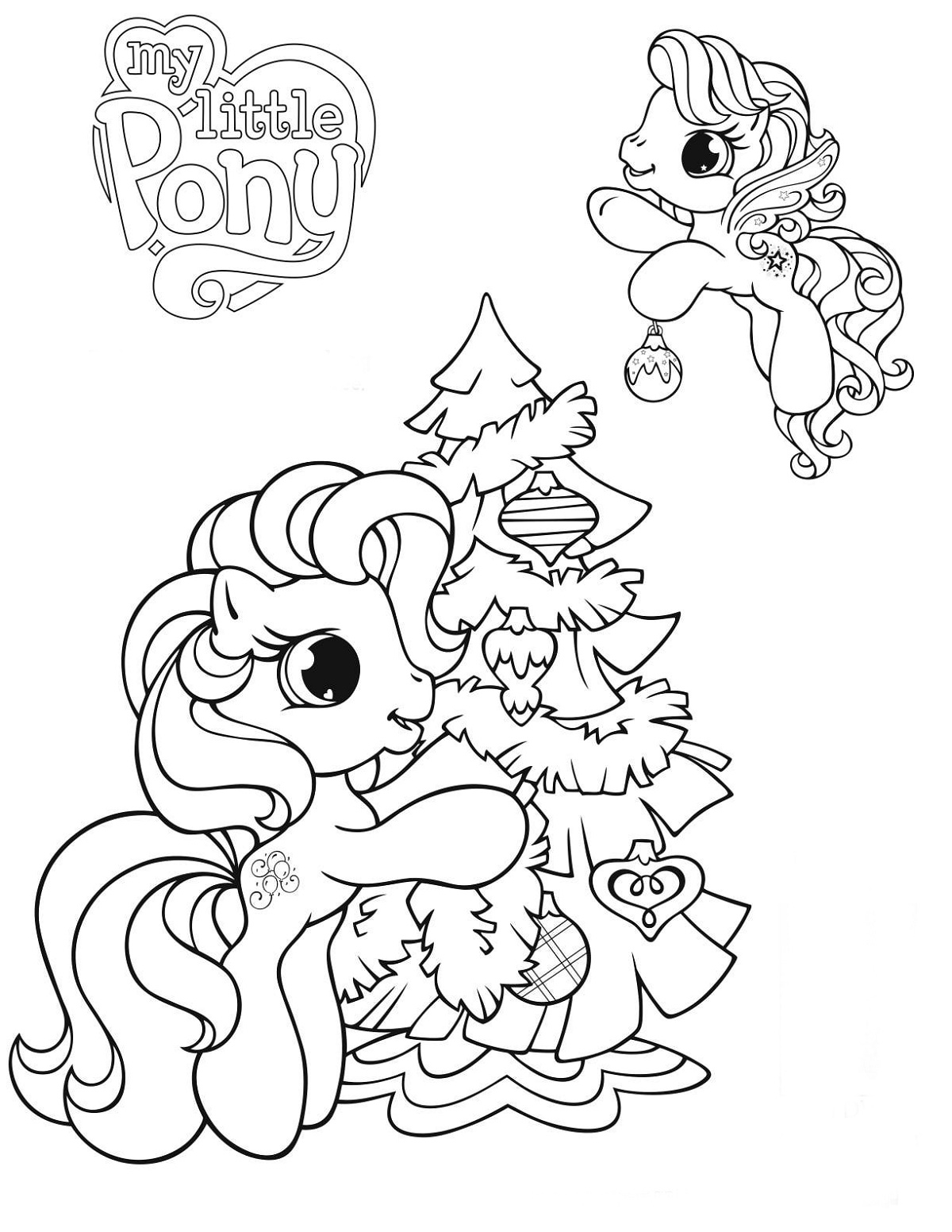 My Little Pony Coloring Pages Pdf Christmas