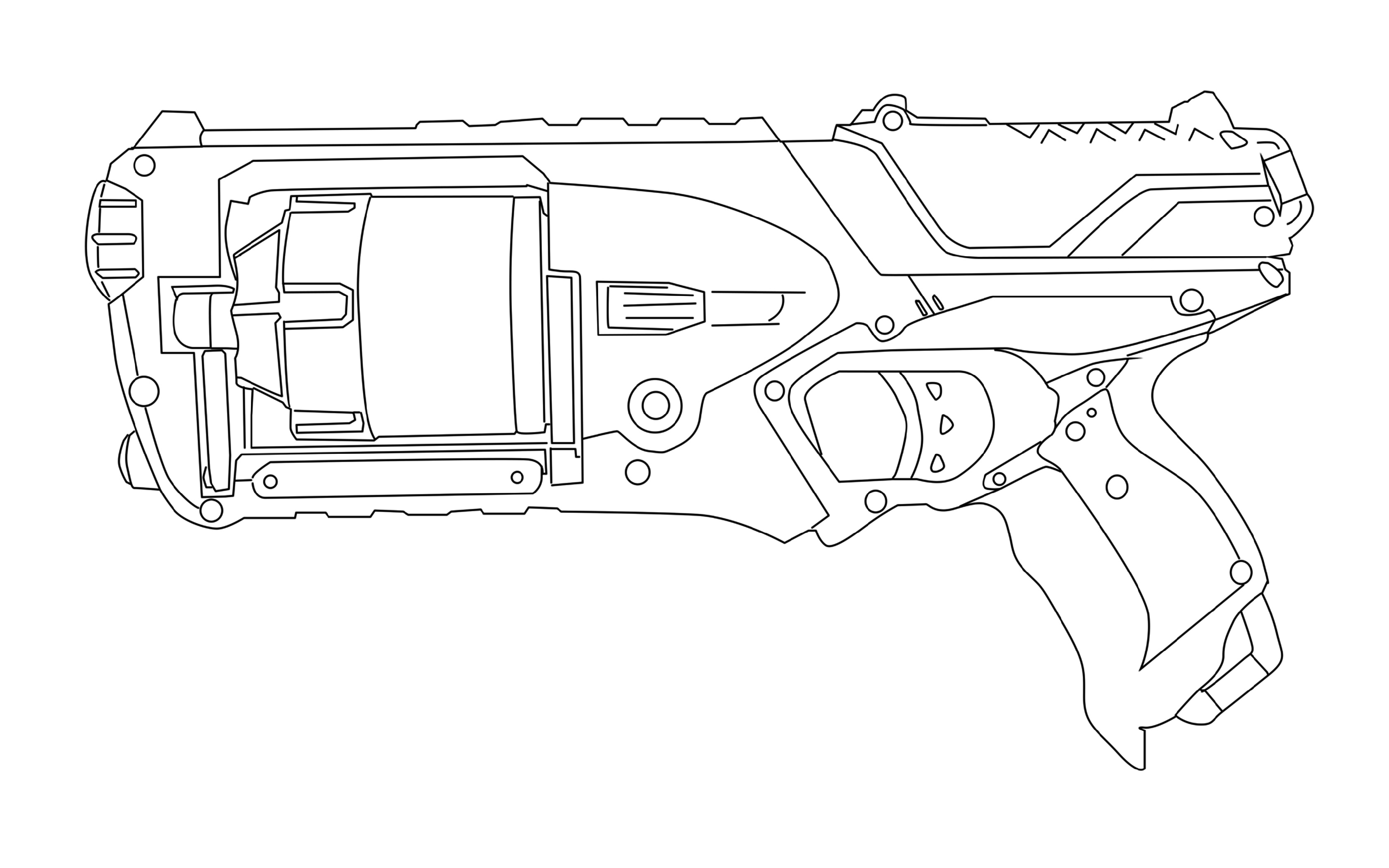 Nerf Coloring Pages Free