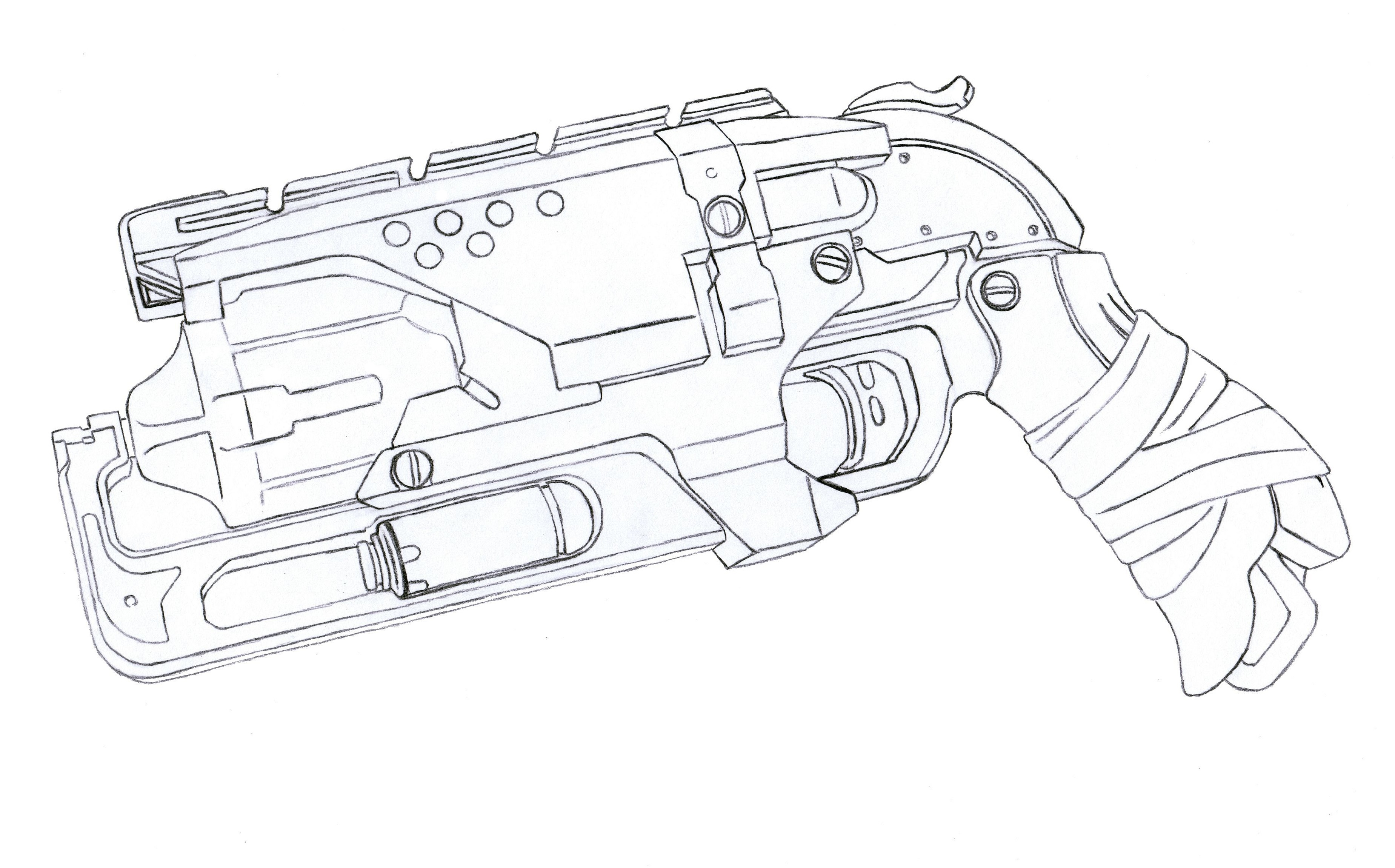 Nerf Coloring Pages Hammershot