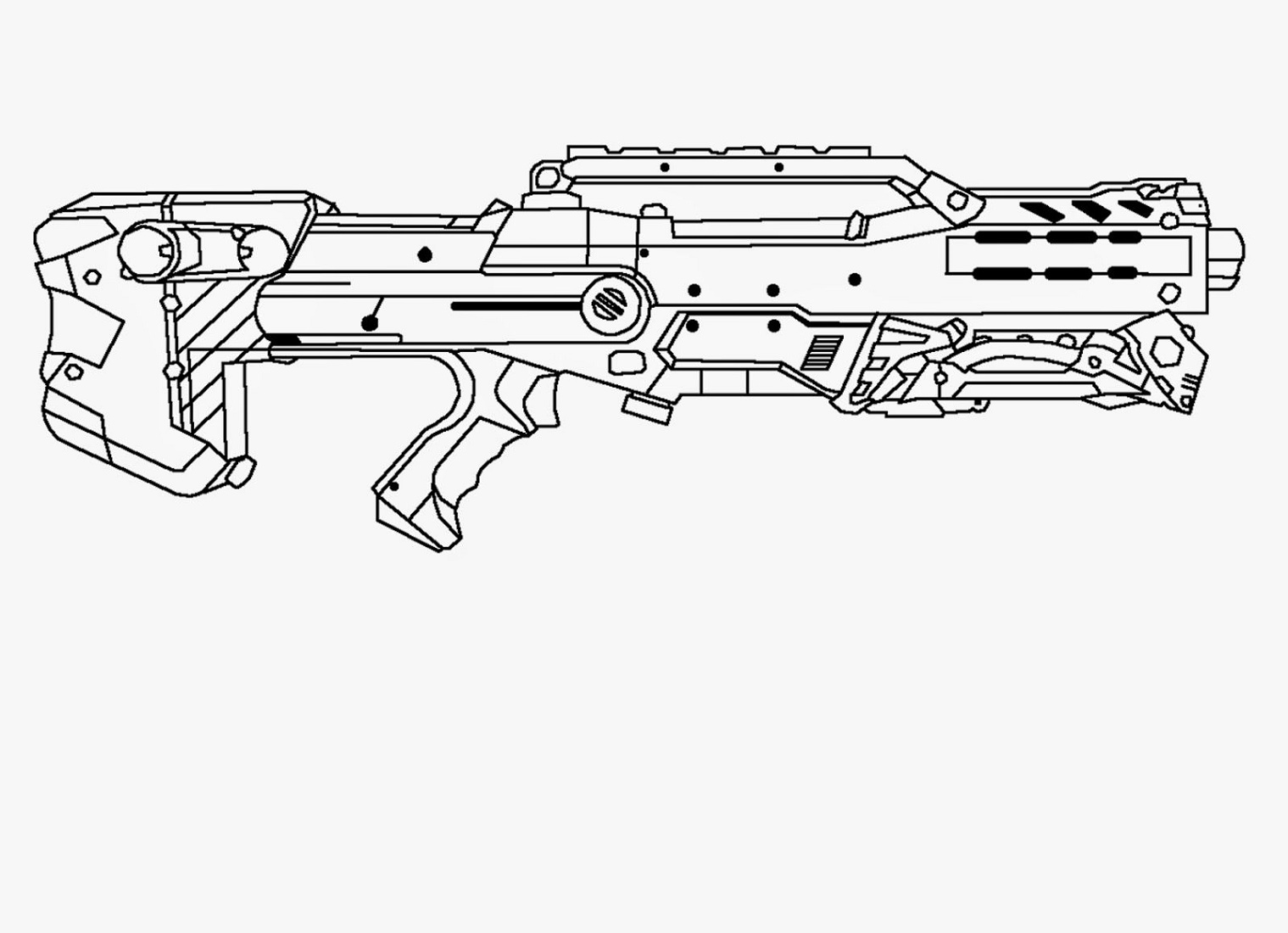 Nerf Coloring Pages Longshot