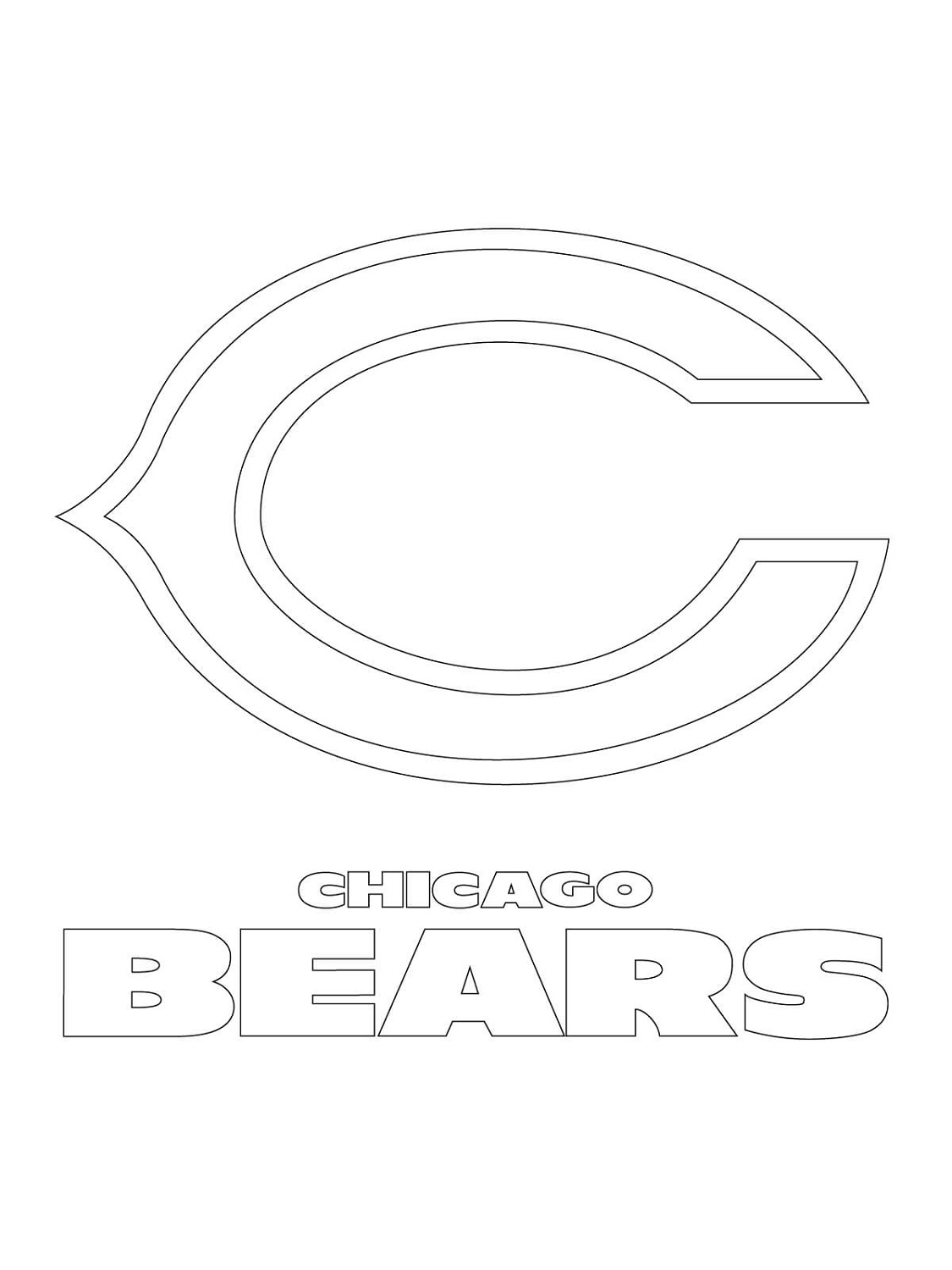 Nfl Logo Coloring Pages Chicago Bears