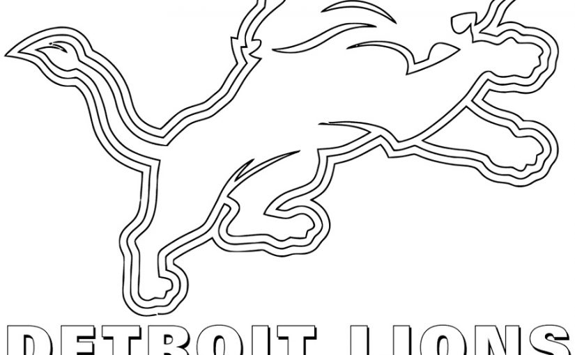 Nfl Logo Coloring Pages Detroit Lions