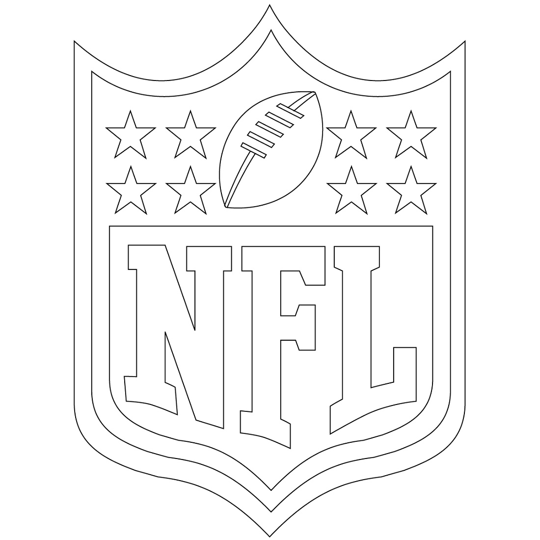 Nfl Logo Coloring Pages Free
