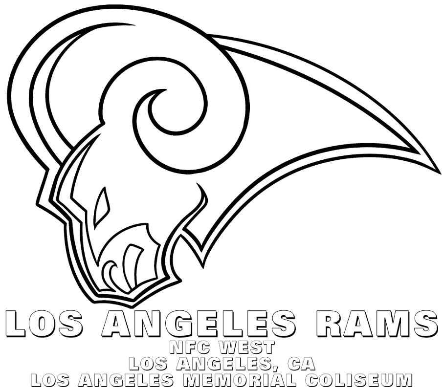 Nfl Logo Coloring Pages Los Angeles Rams