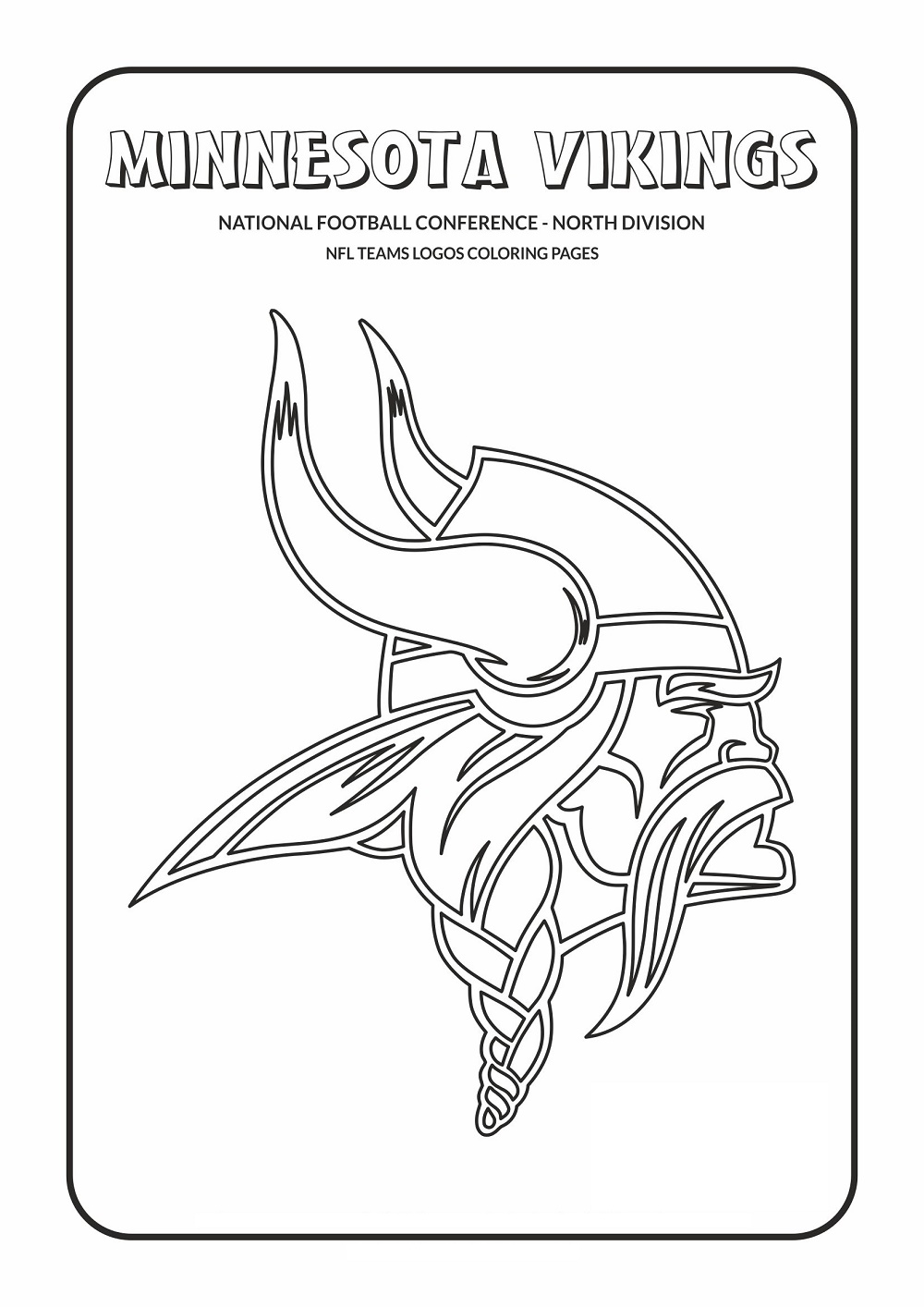 Nfl Logo Coloring Pages Minnesota Vikings