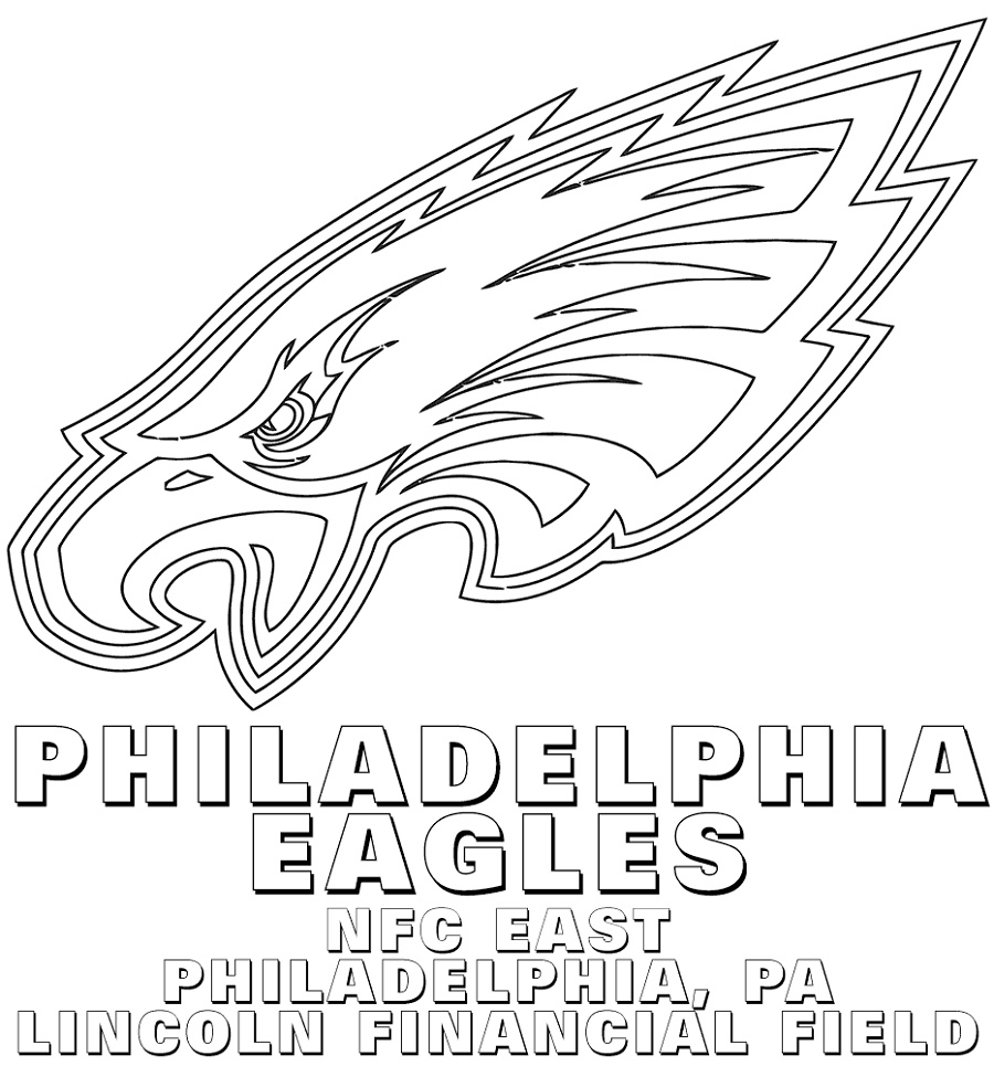 Nfl Logo Coloring Pages Philadelphia Eagles