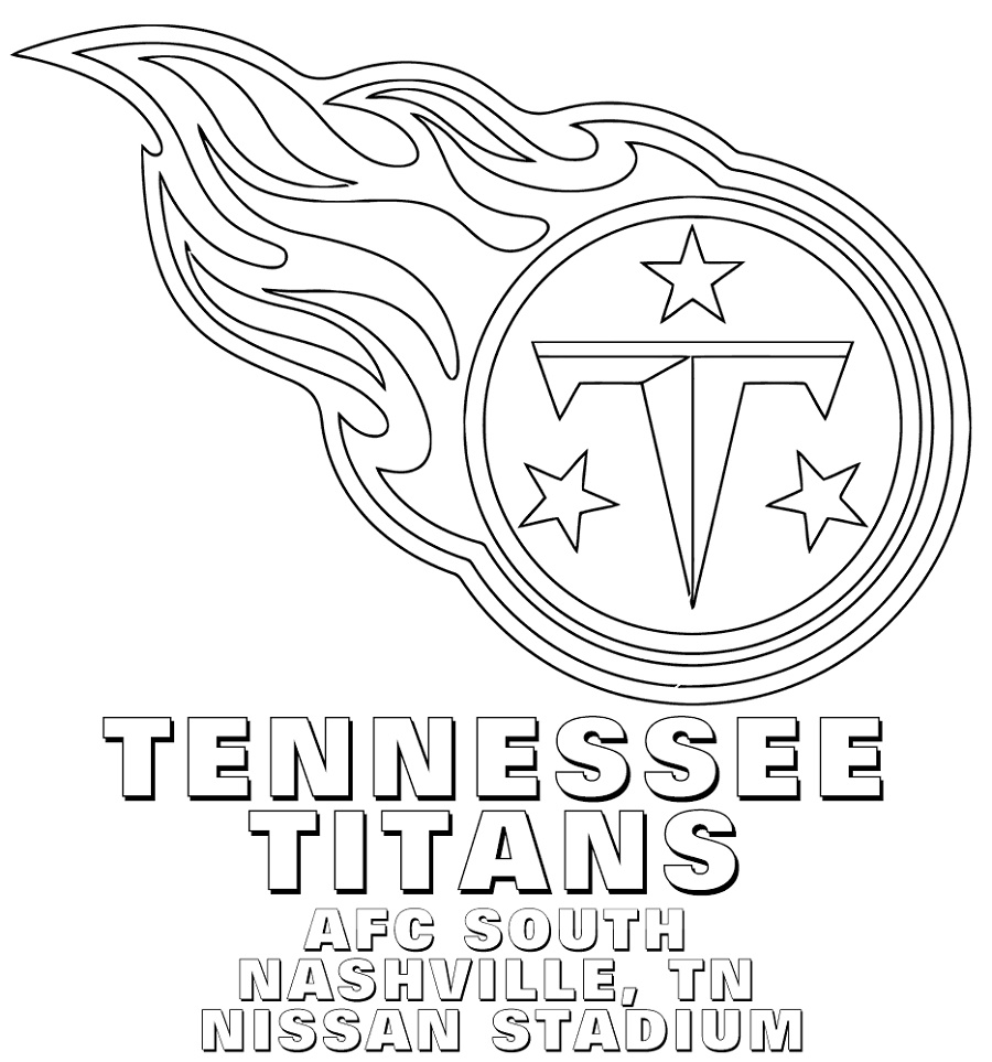 Nfl Logo Coloring Pages Tennessee Titans