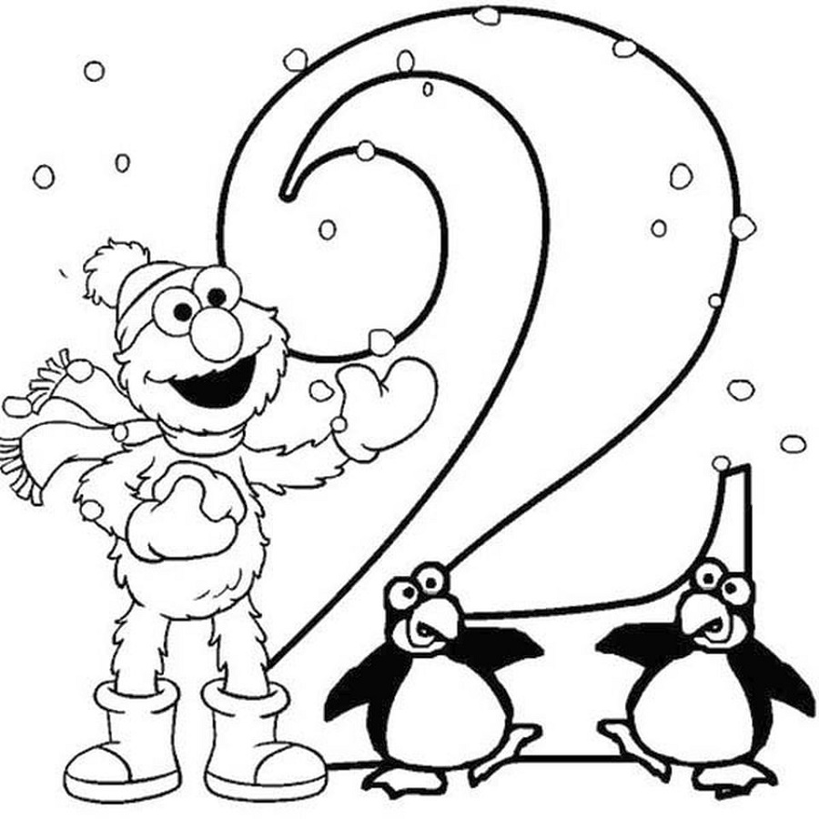 Number Coloring Pages Cartoon