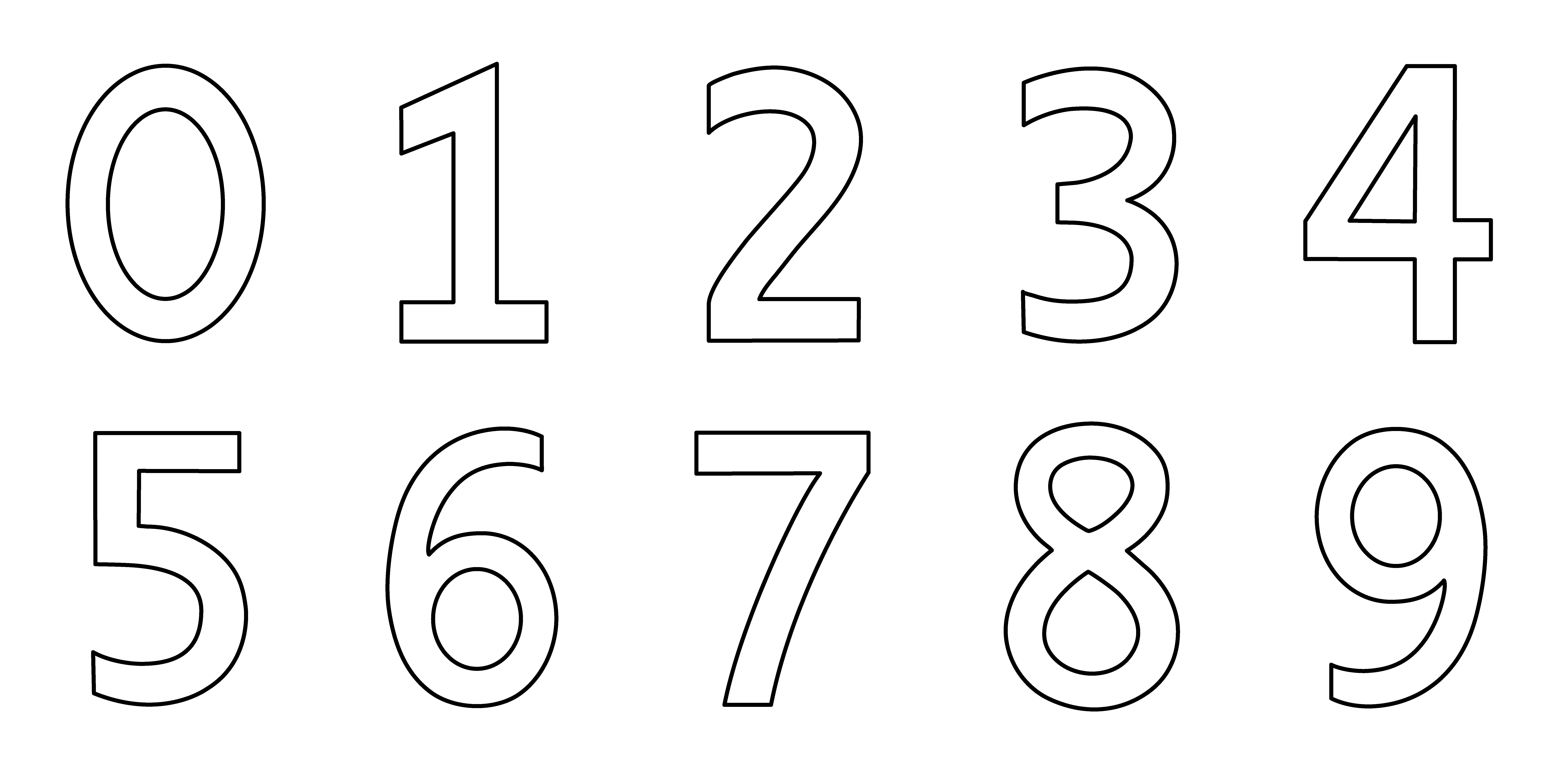 Number Coloring Pages Free