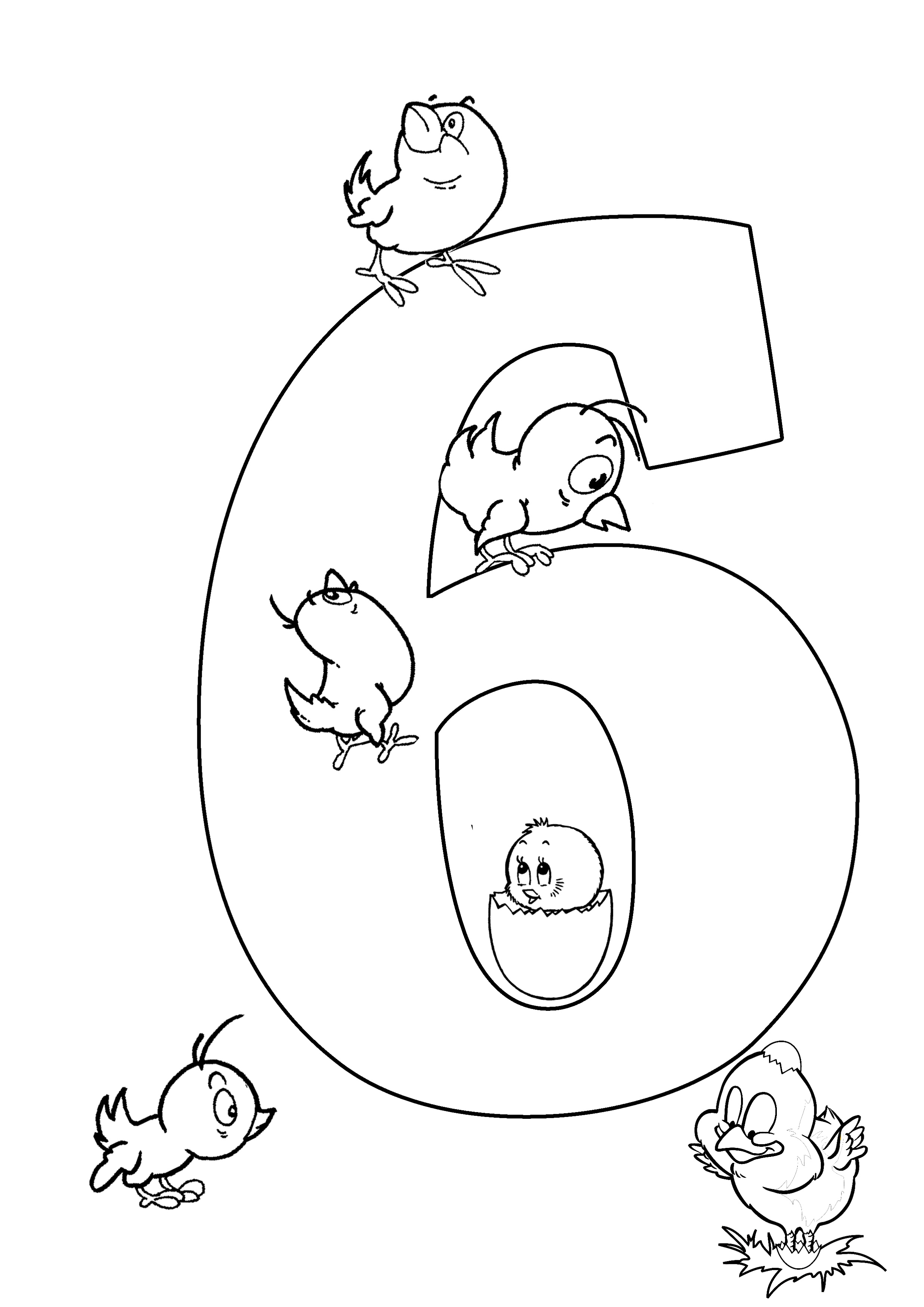 Number Coloring Pages To Print